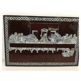 The Last Supper. Lacquered Wood with inlaid