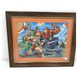 Vintage Completed Paint By Numbers. He-Man