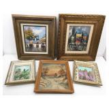 Group of Frames Original Oil  Paintings. 16x17