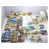Box of vintage postcards. Nevada Airlines,
