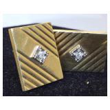 14K Gold Diamonds Cufflinks 10.6g