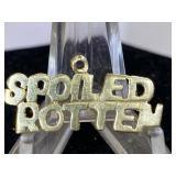14K Gold Charm - Spoiled Rotten
