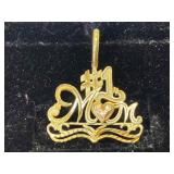 14K Gold Charm - #1 MOM