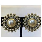 Sterling Silver Mexico Clip on earrings
