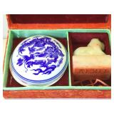 Carved Asian Stone Stamp set - Lucia