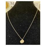 Sterling Silver Daisy Necklace - 18 in