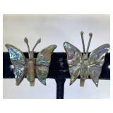 Sterling Silver Butterfly Earrings with Abalone -