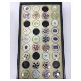 Tray of assorted Gemstones in Ramekins -