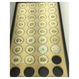 Tray of assorted Gemstones in Ramekins - Oro