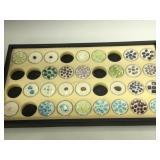 Tray of assorted Gemstones in Ramekins - Topaz,