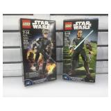 2 star wars figures in box. Rey and  Sergeant Jyn