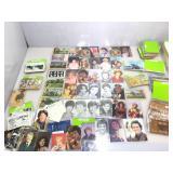 Box of vintage postcards. Trains, Leather,