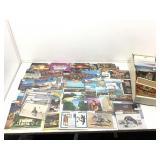 Box of vintage postcards. Las Vegas Casinos and
