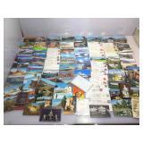 Box of vintage postcards. Arizona, California,