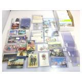 Box of vintage postcards. Arizona, Alaska, Utah,