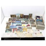 Box of vintage postcards. Sahara, Landmarks and