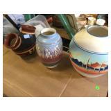 3 Southwest pottery vases 2 artist signed
