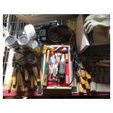 Huge lot of wood carving supplies chisels roto