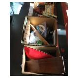 Mixed holiday decorations and more 5 boxes