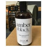 12 Amber and Black Hand Sanitizer Gel with Aloe