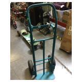 Blue dolly/cart, both wheels hold air