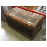 Vintage wood trunk, still has both handles,