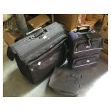 3 luggage bags w/clothing