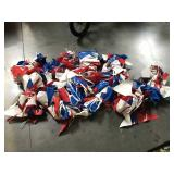 Assorted banners - Red, White & Blue