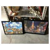 Framed puzzle pictures