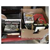 Assorted books - Harley Davidson, Tom Clancy and
