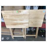 Pr wood TV trays
