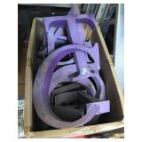 Assorted hollow metal letters - approx. 14 in