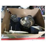 Kitchen items, Gino Vitale Shoes in boxes and