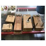 Antique Wood Wall phones - for parts or repair