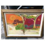 Framed Painting on Canvas by G. De Groat - titled