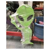 44 inch tall metal Alien decoration