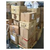 Pallet lot of Christmas ornaments and more