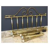 Metal Ornate bed set incl. Headboard, rails and