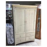 Kincaid solid wood Cream armoire, approx 48x23x76