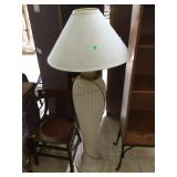 Composite floor lamp, approx 58 inches tall