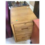 Wood file cabinet, no key