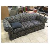 Bassett blue couch, approx 7 ft long