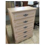 Tall dresser w/5 drawers, approx 45 inches tall
