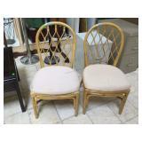 Wood chair with cushion.
