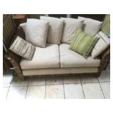 2 seat wicker  couch with 7 reversible pattern