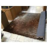 Brown/Gold 3D Shaggy rug, approx 90x122 inches