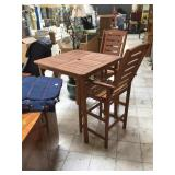 Bar table w/2 chairs, approx 35x35x41 inches