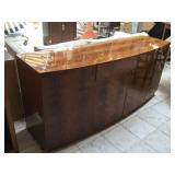 Wood buffet w/side doors (see pictures for