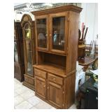 Wood kitchen hutch, approx 38x17x78 inches