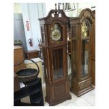 Hermle grandfather clock w/weights and pendulum,